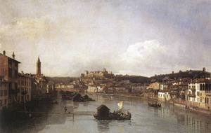 View of Verona and the River Adige from the Ponte Nuovo 1747-48