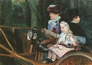 Woman and Child Driving 1879-81