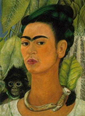 Self-portrait with Monkey,1938