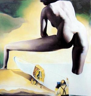 Dali Lifting the skin of the Mediterranean Sea to Show Gala the Birth of Venus,1977