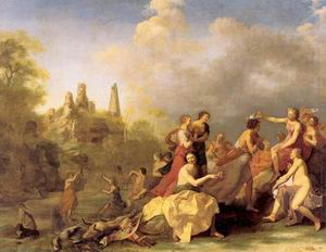 Amaryllis Giving Myrtill the Prize 1635