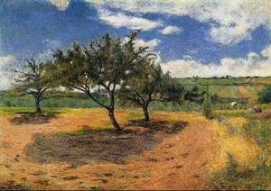 Apple Trees At L Hermitage