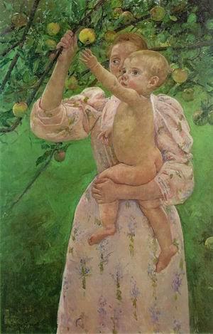 Child Picking a Fruit 1893