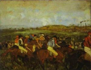 Gentlemen Jockeys before the Start