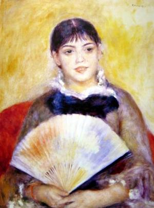 Girl with a Fan, c.1881
