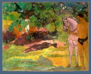 In the Vanilla Grove, Man and Horse 1891