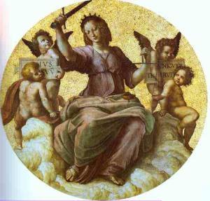 Justice (ceiling tondo). 1509-1511