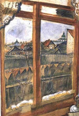 Kind from a window. Vitebsk