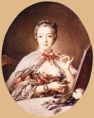 Marquise de Pompadour at the Toilet-Table 1758