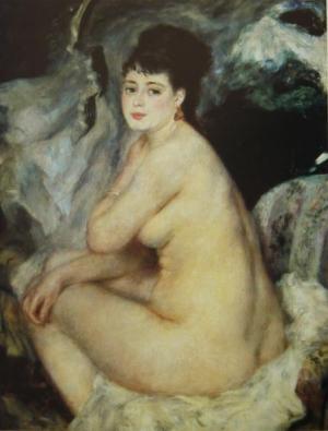 Nude Seated on a Sofa,1876
