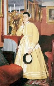 Portrait of Madame Edmondo Morbilli 1869