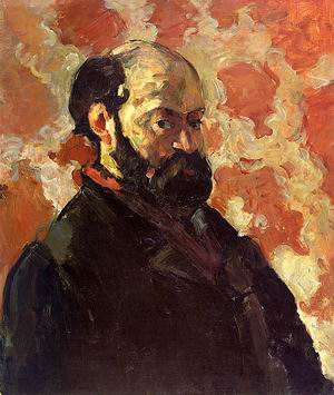 Self-Portrait on a Rose Background, 1875-77