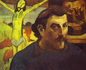 Self-Portrait with Yellow Christ,1889