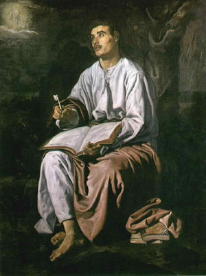 St John the Evangelist at Patmos c. 1618