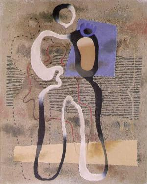 Standing Figure with Blue Plane 1933