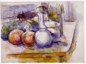 Still Life with Carafe, Sugar Bowl, Bottle, Pomegranates, and Watermelon 1900-1906