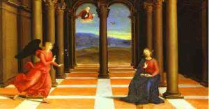 The Annunciation (from the predella of the Coronation of the Virgin). c. 1503-1504