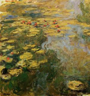 The Water- Lily Pond (left side) 1917-1919