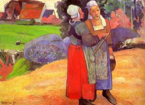 Two Breton Women on the Road,1894