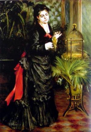 Woman with a Parrot (Henriette Darras), 1871