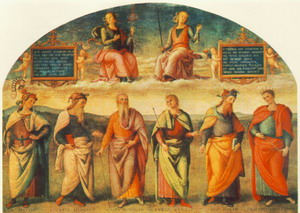 Prudence and Justice with Six Antique Wisemen 1497