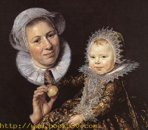 Catharina Hooft with her Nurse (detail) 1619-20