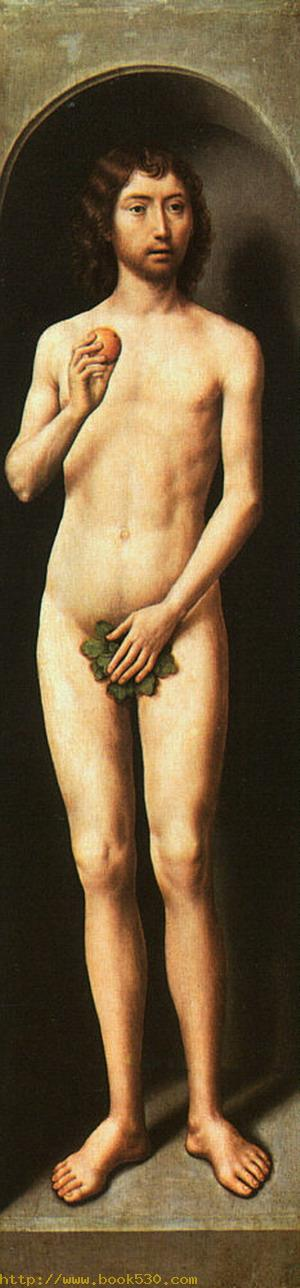 Adam, outer left panel of a triptych 1485