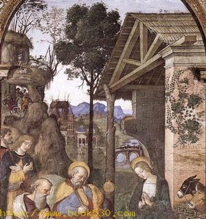 Adoration of the Christ Child (detail) c. 1490