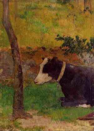 Kneeling Cow