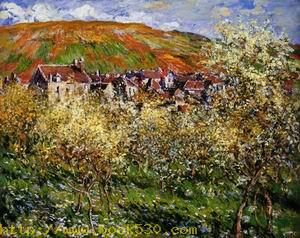 Plum Trees in Blossom at Vetheuil 1879