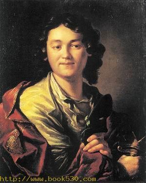 Portrait of Fiodor Volkov, the Founder of the First Russian Public Theatre 1763