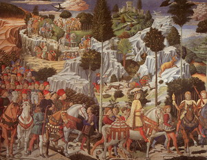 Procession of the Magus Gaspar 1459