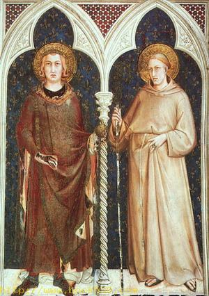 St. Louis of France and St. Louis of Toulouse 1321