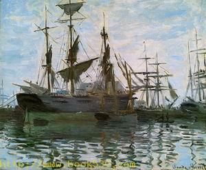 Study of Boats (aka Ships in Harbor) 1873