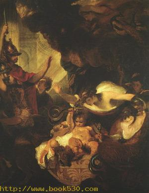 The Infant Hercules Strangling the Serpents sent by Hera
