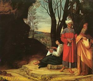 The Three Philosophers (Finished by Sebastiano del Piombo) 1509