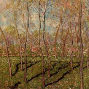 Trees in Winter View of Bennecourt 1887