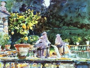 Villa di Marlia (A Fountain), 1910