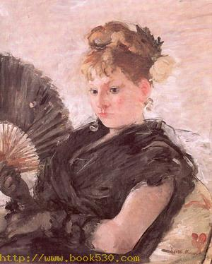 Woman with a Fan (Head of a Girl) 1876