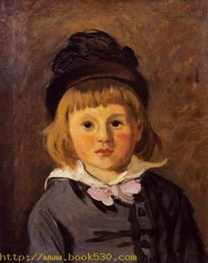 Portrait of Jean Monet Wearing a Hat with a Pompom 1869