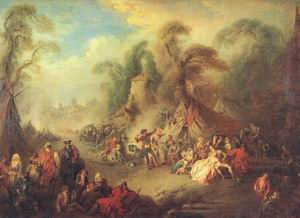 A Country Festival with Soldiers Rejoicing 1728