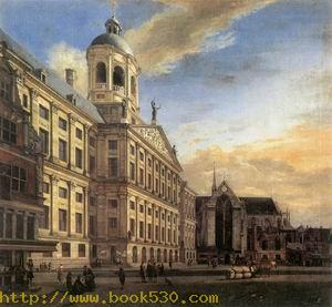 Amsterdam, Dam Square with the Town Hall and the Nieuwe Kerk 1667