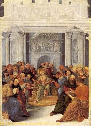 Christ Disputing with the Doctors 1525