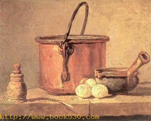 Copper Cauldron with Three Eggs 1734