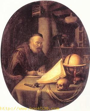 Man Interrupted at His Writing 1635