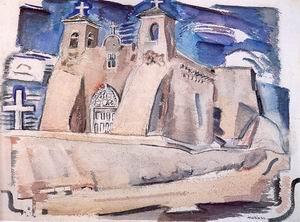 Old Church at Ranchos, New Mexico 1930