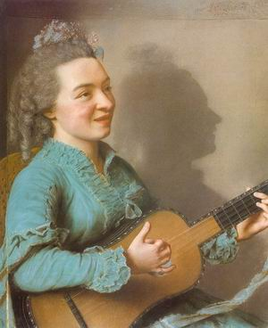 Portrait of Marie Justine Benoitei Favart Duronceray 1757