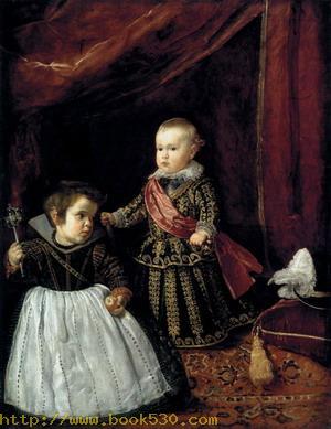 Prince Baltasar Carlos with a Dwarf 1631