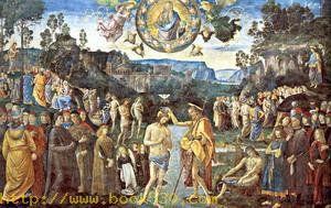 Scenes from the Life of Christ, The Baptism of Christ (with Perugino)