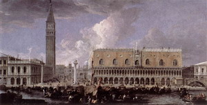 View of the Wharf from the Bacino di San Marco 1720s